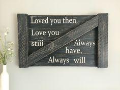 Black barn wood distressed sign