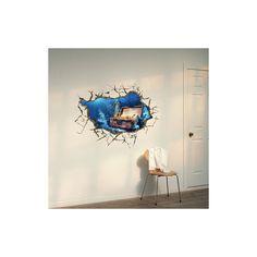 Art Mural - Stickers Muraux - 3D Sticker mural - Art Wall Paper 3D trésor du lac revêtements muraux PVC lavables mur