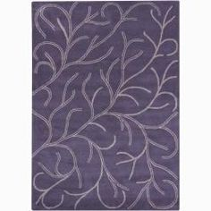 @Overstock - A thick, soft pile highlights this area rug. Hand-tufted in India using premium quality wool, this area rug features a beautiful floral design in shades of purple and beige against purple background.http://www.overstock.com/Home-Garden/Mandara-Hand-tufted-Wool-Rug-7-x-10/6027853/product.html?CID=214117 $466.99