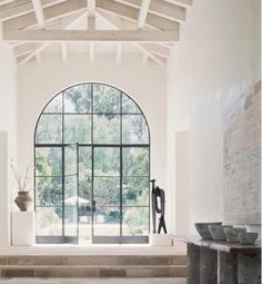 Arched steel doors and windows