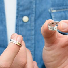 Personalized Custom Engraved Heatbeat Couple's Silver Rings- His & Hers Valentines Jewelry Gift, Customized for Her Him Boyfriend Girlfriend Perfect Gift For Boyfriend, Perfect Gift For Him, Boyfriend Gifts, Boyfriend Girlfriend, His And Hers Jewelry, Couple Jewelry, Couple Rings, Cute Bracelets, Bracelets For Men