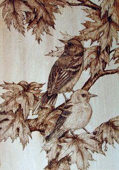 Pyrography bird | Woodburning Books See Woodburners See Woodburning Accessories