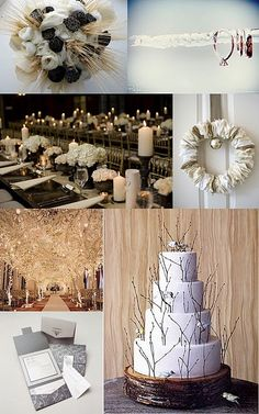 my future wedding  colors are going to be white, gold, brown, cream and a few greens only from the flower leaves :) <33