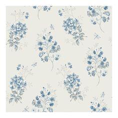 Beverly Blue Floral Wallpaper - 20.5 x 396 x 0.025 (20.5 x 396 x 0.025)