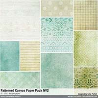 Patterned Canvas Paper Pack No. 02