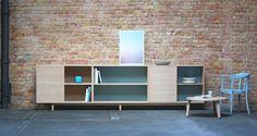 Sideboard Anrichte medienmöbel 3 Kast Eiche weiß geölt von Benjamin Pistorius