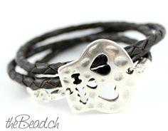 SUGAR SKULL braided leather bracelet