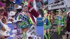 Fotos de la Reina del Folklore 2015 de la Festividad Virgen de la Candelaria: Alexandra Paola Laguna del Castillo