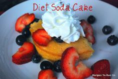 Low fat cake made with diet soda!