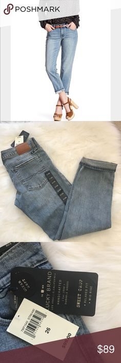 NWT Lucky brand jeans pants sweat crop size 26 New with tag pretty jeans Lucky Brand Jeans Ankle & Cropped