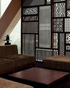 Wood lattice divider