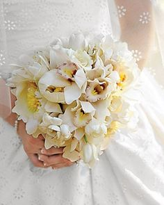 """See the """"White Bouquet"""" in our Orchid Wedding Bouquets gallery"""