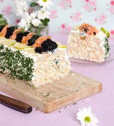 Scandinavian Food, Finger Sandwiches, Sandwich Cake, Snack Recipes, Snacks, Swedish Recipes, Fika, Cravings, Seafood