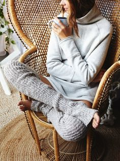 Bowery Ribbed Over The Knee Legwarmer   Super soft and cozy over-the-knee ribbed knit leg warmers.