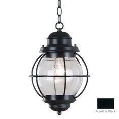 Kenroy Home�Hatteras 16-in H Black Outdoor Pendant Light