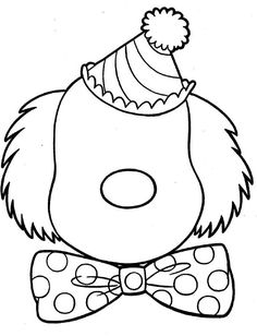 Clown Coloring Pages Free Printable Coloring Pages, Coloring Book Pages, Coloring Pages For Kids, Coloring Sheets, Free Coloring, Printable Worksheets, Clown Crafts, Circus Crafts, Clown Faces