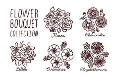 Handsketched bouquets collection by AV Design on @creativemarket