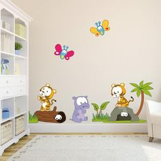 Baby jungle new characters wall stickers