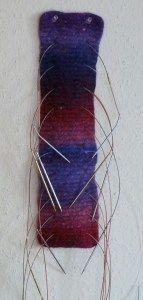 Free knitting pattern for Circular Needle Organizer