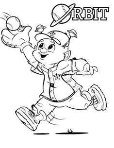 Orbit The Astros Mascot Coloring Page