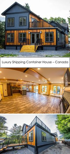 Luxury Shipping Container House – Canada - Home Design Shipping Container Home Designs, Shipping Container House Plans, Shipping Containers, Shipping Container Interior, Shipping Container Buildings, Style At Home, Casas Containers, Building A Container Home, Container Architecture
