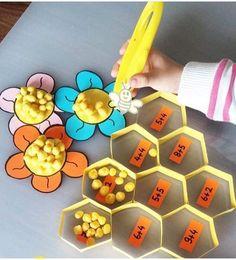 Math Activities For Kids, Montessori Activities, Spring Activities, Preschool Activities, Kids Learning, Toddler Crafts, Crafts For Kids, Kids Education, Tot School