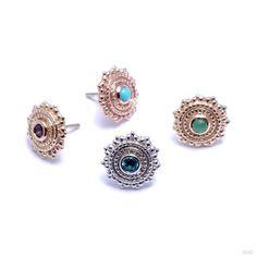 Single BVLA 14k Rose Gold w// Black Onyx Stone Threadless End Earring Jewelry