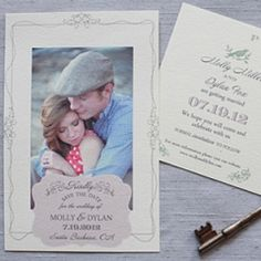 Vintage Free Printable Save the Date Cards