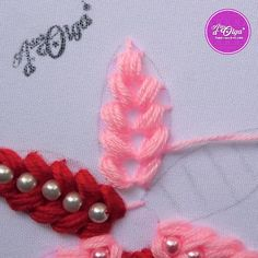 Hand Embroidery Patterns Flowers, Hand Embroidery Videos, Embroidery Stitches Tutorial, Hand Embroidery Designs, Creative Embroidery, Simple Embroidery, Beaded Embroidery, Ribbon Flower, Ribbon Hair