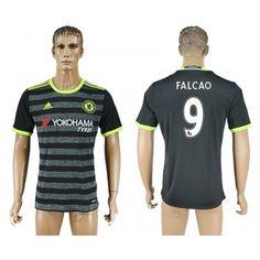 Chelsea 16-17 Radamel Falcao 9 Bortatröja Kortärmad  #Fotbollströjor