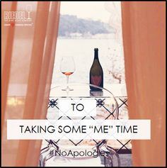 """Here's to taking some """"me"""" time! #Cheers #Riedel #wine #glass #Rose"""