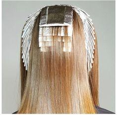 11 Examples of Foil Placement Perfection by Ian Michael Black - Color - Modern Salon Blonde Foils, Hair Foils, Copper Blonde, Redken Hair Color, Aveda Color, Fire Hair Color, Hair Color Placement, Foil Highlights, Partial Highlights
