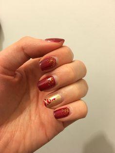 Vernis rouge dorée - Noel