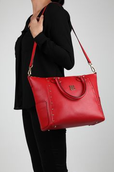 Macabeo Tote in Red by Angel Reinares www.angelreinares.com