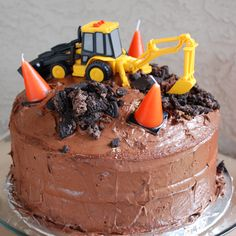 Construction Birthday Party - hats, shirts, activities, cake, tool belts
