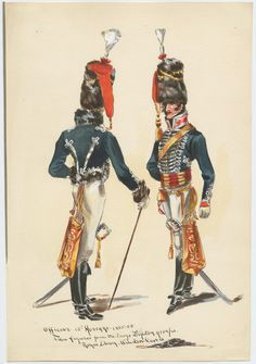 British; 15th (The King's) Regiment of (Light) Dragoons (Hussars), Officer, 1805-08 by G H Brennan