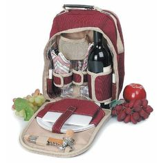 Polyester Picnic Backpack for Two