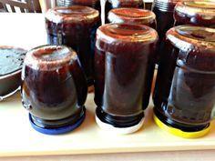 Slivkovo-kávový džem s Fernetom (fotorecept) - obrázok 8 Homemade Jelly, Spices, Food And Drink, Cooking Recipes, Pudding, Drinks, Hampers, Syrup, Drinking