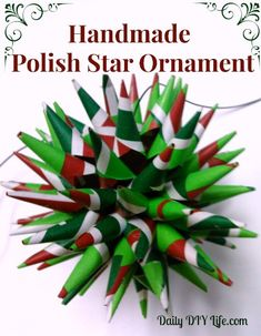 Holiday Decorating: Handmade Christmas Ornaments - Polish Star. Daily DIY Life.com