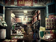 Scene from the streets of Bangkok, Thailand. Michiel de Lange