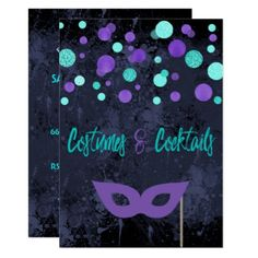 #Costumes and Cocktails Halloween Party Invitation - #halloween #invitation #cards #party #parties #invitations #card