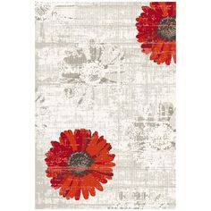 Dynamic Rugs Infinity 35009-1250 Ivory-Red Area Rug