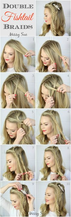 The Ultimate Mermaid Braid Tutorial For The Newbie: Looking out for fantabulous Mermaid Braid haircut tutorial? You have come to the right place! Here we demonstrate how easily you can create your own Mermaid Braid haircut. Check out and enjoy. French Braid Hairstyles, Braided Hairstyles Tutorials, Diy Hairstyles, Hairstyle Ideas, Braid Tutorials, Hair Ideas, Wedding Hairstyles, Hairdos, Pinterest Hairstyles