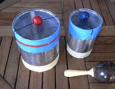 Drums out of a cans #kids, #craft, #crafts, #children, #diy