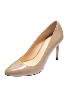 Bethany Almond-Toe Leather Pump,Maple Sugar by Cole Haan at Neiman Marcus.