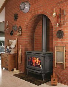Wood stove...looks different then the one in my childhood home bit u get the idea