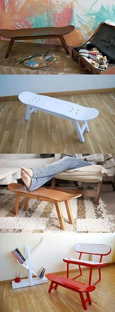 DIY skateboard bench