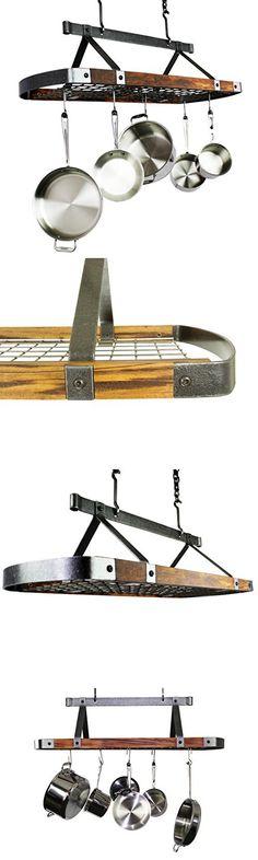 Signature Oval Ceiling Rack Pot Racks, Kitchen Design, Ceiling, Ceilings, Design Of Kitchen, Trey Ceiling