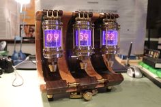 Nixie Tube Clock How Very Warehouse 13 EPBOT Saturday Steam 9 29 12