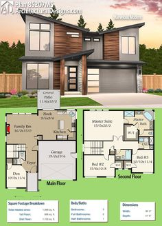 Architectural Designs Modern House Plan 85207MS gives you 3+ beds and over 1,900 square feet of heated living space. Ready when you are. Where do YOU want to build?